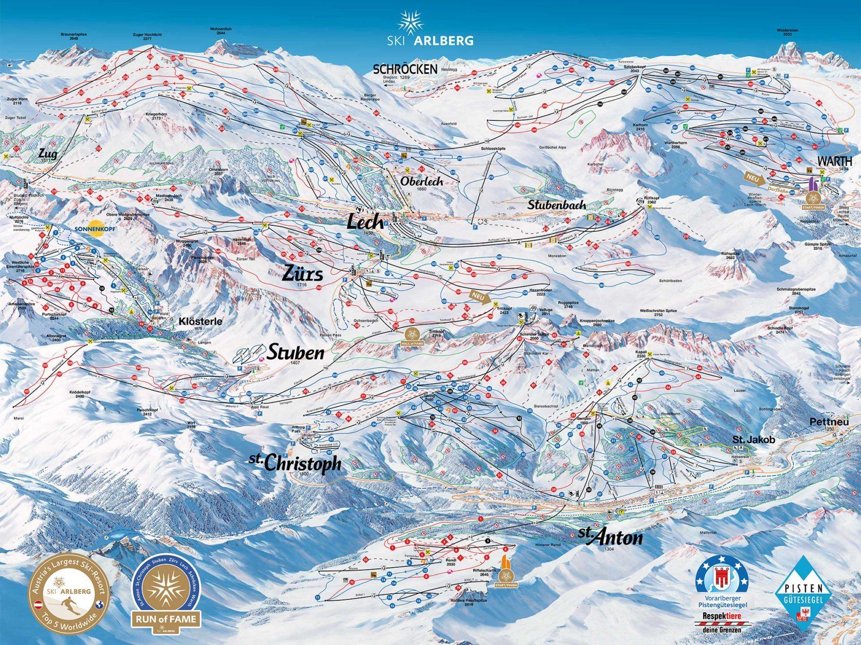 Almhof Schneider map
